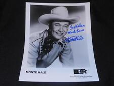 Country Westerm Actor Monte Hale (d.09) Signed Vintage 8x10 Autograph Photo JB5