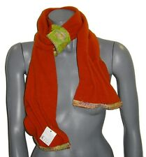 ECHARPE femme RUE du BAG fabriquée en France polaire rouge & vert hiver NEUVE