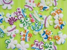60 Padded Mix Color Floral Print Fabric Flower Applique/Daisy/trim/sewing H128