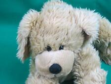 BIG VINTAGE 1994 PETTING ZOO SHAGGY PUPPY DOG RUN COLLAR PLUSH VINYL PAWS TOES