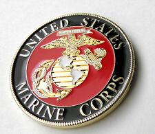 "USMC US MARINES MARINE CORPS PATRIOTIC SERIES CHALLENGE COIN 1.6"" NEW IN CASE"