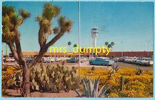 AZ Phoenix ~ SKY HARBOR AIRPORT Tower & Parking Lot ~ 1950s/60s POSTCARD