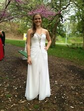 White prom dress women's size 2
