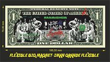 RAMMSTEIN WE'RE ALL LIVING IN AMERIKA IMAN BILLETE 1 DOLLAR BILL MAGNET