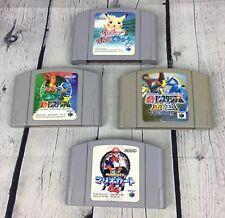 Lot 4 Nintendo 64 Retro Games 3 Pokémon 1 Mario Kart Pokemon Silver Gold Japan