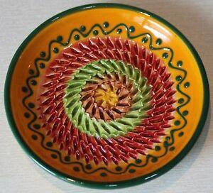 Auswahl Spanische Reibeteller, Reibe aus feiner Keramik, Handarbeit, mit Pinsel
