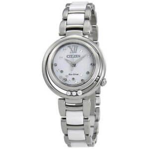 NEW Citizen L Sunrise EM0320-83A Ladies 30mm Bracelet Watch MSRP $875