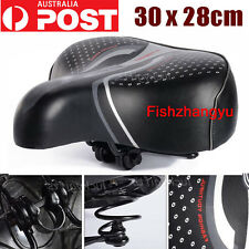 Large Bum Bike Bicycle Gel Ladies Cycling Sprung Saddle Seat Cushion Comfortable