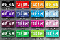 Customised US Style Metal License Plate (Choose your text, colour and size)