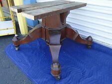 Antique Crotched Mahogany Empire Split Pedestal Table Base