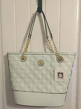 NEW Anne Klein The Quilt Trip Tote Shoulder Bag Honeydew Light Green Large Ha...
