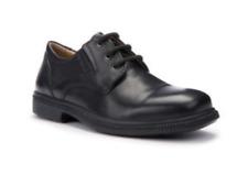 Geox Boys Designer Leather Black School Shoes - Federico Brogue UK 1 & 1.5 BNIB