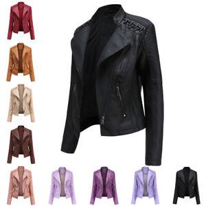 Autumn Women's Faux Leather Jacket Thin Section Small Jacket Long Sleeve Coat