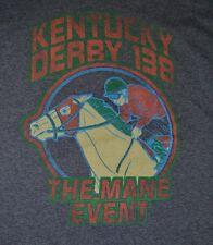 Retro Kentucky Derby 138 Mane Event Horse Racing T Shirt XL 2012 Nice Churchill