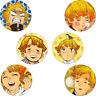 6pcs Kimetsu no Yaiba Agatsuma Zenitsu Itabag Badge Pin Button Holiday Gift 58MM
