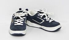 Vans Maverick II Blue Suede Leather Skater Boy Sneaker Lo Tennis Shoes Boys 2 US