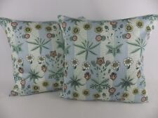 William Morris Daisy Fabric Pillow Cushion Covers Blue Vintage Floral 2 18""