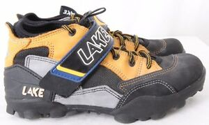Lake Black Cycling Clip In Mountain Road Lace Up Biking Sneakers Men's US 7-7.5