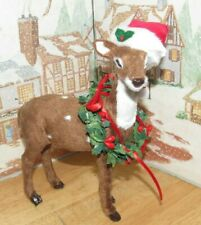 Byers Choice Reindeer with Wreath *
