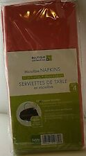 """Boutique Collection Microfibre Napkins 17"""" x 17"""" Stain Resistant Set of 4 NEW"""
