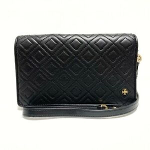 Auth TORY BURCH Black Leather Other Style Wallet