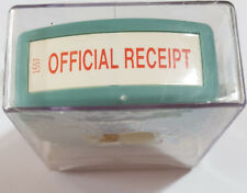 Xstamper 'OFFICIAL RECEIPT' Self Inking Stamp Red