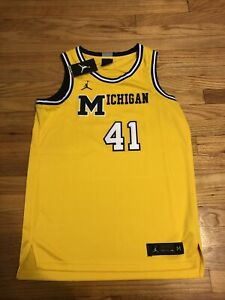 NWTMens Jordan Michigan Wolverines Glenn Rice Jersey Size Medium $110 RARE