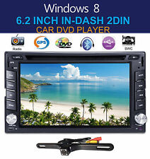 "6.2"" GPS Navigation HD Double 2 DIN Car Stereo DVD Player Bluetooth iPod MP3+CAM"