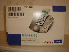 Swisscom Trend L129 Cordless Phone Original Box Manual Switzerland Grey Silver