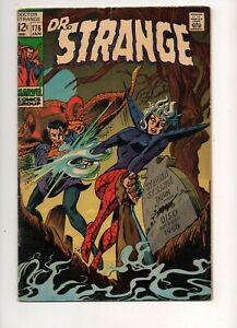 Doctor Strange #176 HIGH-GRADE VF 8.0 CLASSIC HALLOWEEN TOMBSTONE COVER 1969! WP
