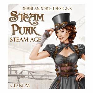 Debbi Moore Designs SteamPunk Steam Age Papercrafting CD Rom (329168)