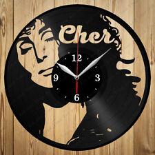 Vinyl Clock Cher Original Vinyl Clock Art Home Decor Handmade Gift