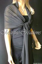 etole en mousseline MARIAGE MARIEE coloris Noir