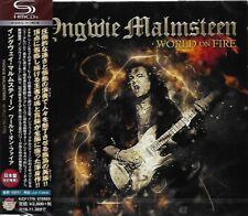 YNGWIE MALMSTEEN WORLD ON FIRE - JAPAN 2016 SHM CD - GIFT PERFECT QUALITY!
