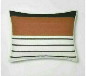 ONE Project 62 Nate Berkus Stripe Woven Yarn Dye Pillow Sham Cream Standard NEW