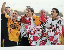 Liverpool multi signed by 4 10x8 photo UACC Registered dealer AFTAL