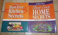 lot of 2 Bottom Line's Books Best Ever Kitchen Secrets & Home Secrets