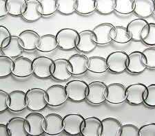 2 ft. SILVER PLATED BRASS 10.5mm Round Chain /B24