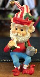 Enesco North Pole Village Elf Eating a Sandwich on His Break, Sandy Zomnisky