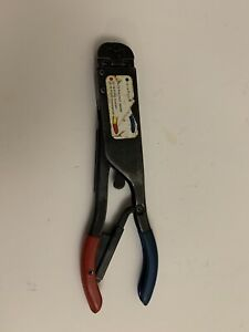 Amp / Tyco 59250 Red and Blue T head ratchet Crimp Crimper crimping tool CLEAN