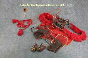 Mr.Z 1:6 Red Ancient Japanese Harness Model Toy MRZ056D Fit War Horse Figure
