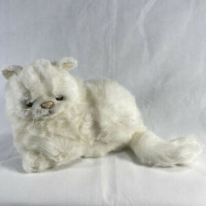 Ganz HERITAGE COLLECTION WHITE SHAGGY PERSIAN CAT Stuffed Animal PLUSH SOFT TOY