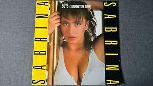 SABRINA - BOYS (Summertime Love) .     12'' Vinyl SP.