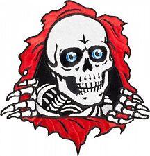 "PATCH Powell Peralta Skateboards Bones Brigade Iron On RIPPER Skull 4"" NEW"