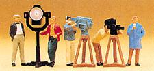HO Preiser 10062 T.V. / MOVIE CREW with Light and Cameras FIGURES