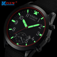 Mens Military Quartz Army Watch Date Nylon Strap Analog Dial Sports Wrist Watch