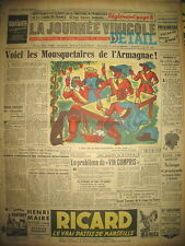 ARMAGNAC DESSIN DE MAURICE SCHOUPPE LES BOIVIN JOURNAL LA JOURNéE VINICOLE 1951