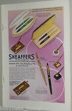1939 Sheaffer's Pen ad, color, pen & pencil sets