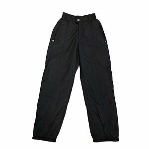 Bogner Ski Pants Women's Size 4 Black Regular Fit Ankle Zip Waterproof Nylon