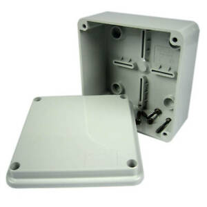 IP67 ELECTRICAL MOULDED ENCLOSURE ADAPTABLE BOX WATERPROOF JUNCTION 100X100X60MM